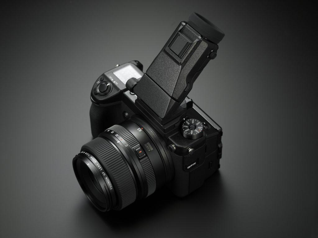 Fujifilm GFX with EVF tilt adapter